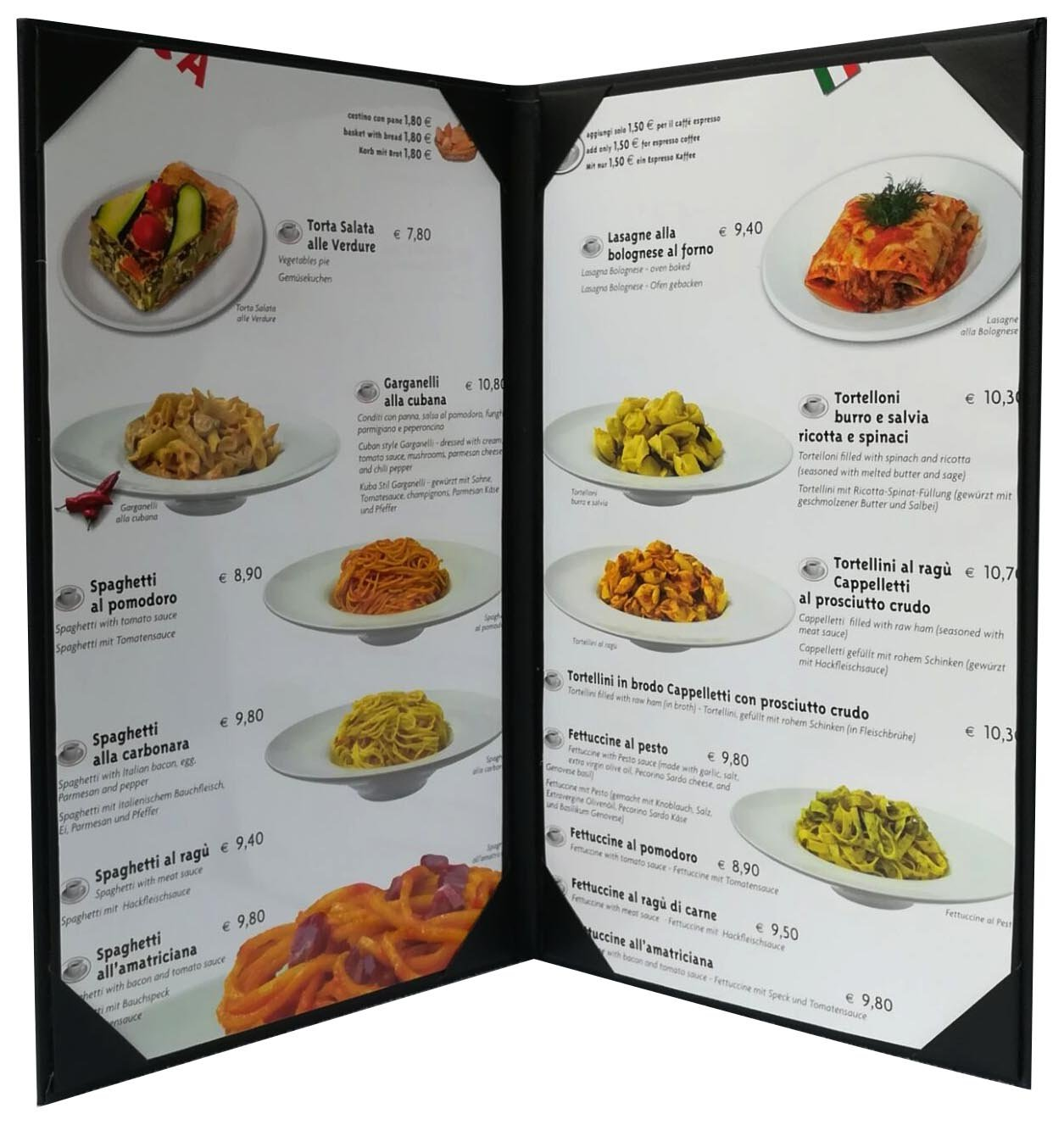 5 Pcs of Restaurant Menu Covers Holders 8.5'' X 14'' Inches,Double View,Sold By Box,With Clear PVC sheets for Paper Protection