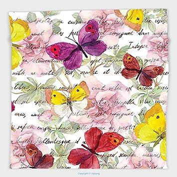 Vipsung Mikrofaser Ultra Soft Hand Towel Butterflies Dekoration Collection  Schmetterlinge Auf Holz Hintergrund Holz Tisch