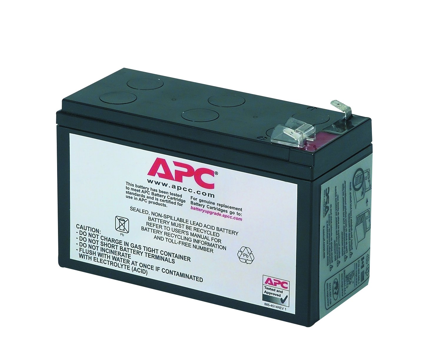 APC UPS Battery Replacement for APC UPS Models BE650G1, BE750G, BR700G, BE850M2, BX850M, BE650G, BN600, BN700MC, BN900M, and select others (RBC17)