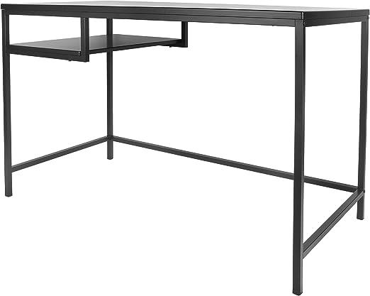 Leitmotiv® - Mesa de Escritorio, Consola, Acero, Color Negro ...