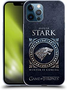 Head Case Designs Officially Licensed HBO Game of Thrones Stark Metallic Sigils Soft Gel Case Compatible with Apple iPhone 12 Pro Max