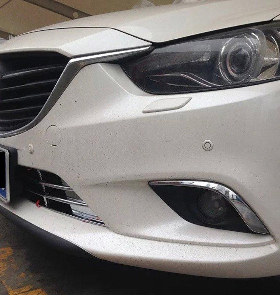 Fog Light Eyelid Trim ABS Chrome 2PCS//SET Car Front Fog Light Lamp Eyebrows