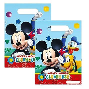 Mickey Ratón - Fiesta Cumpleaños Bolsas Regalo 6 Pc. Mickey Mouse