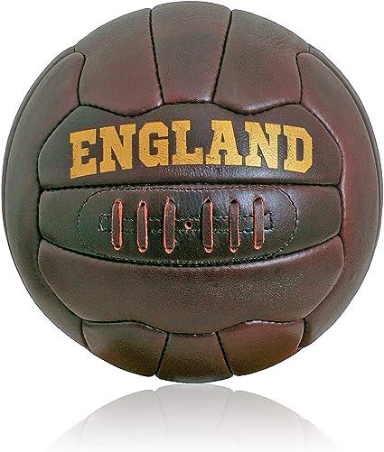 British Sports Museum Nuevo Cuero Antiguo Inglaterra Fútbol Talla ...