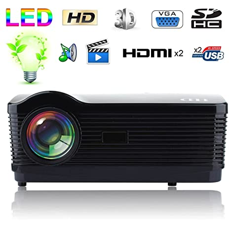 Proyector de vídeo Full HD 1080p 3000 lúmenes Home Cinema ...