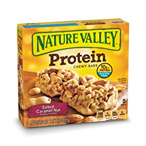 Nature Valley Chewy Granola Bar, Protein, Salted Caramel Nut, 1.4 Ounce , 5 Count