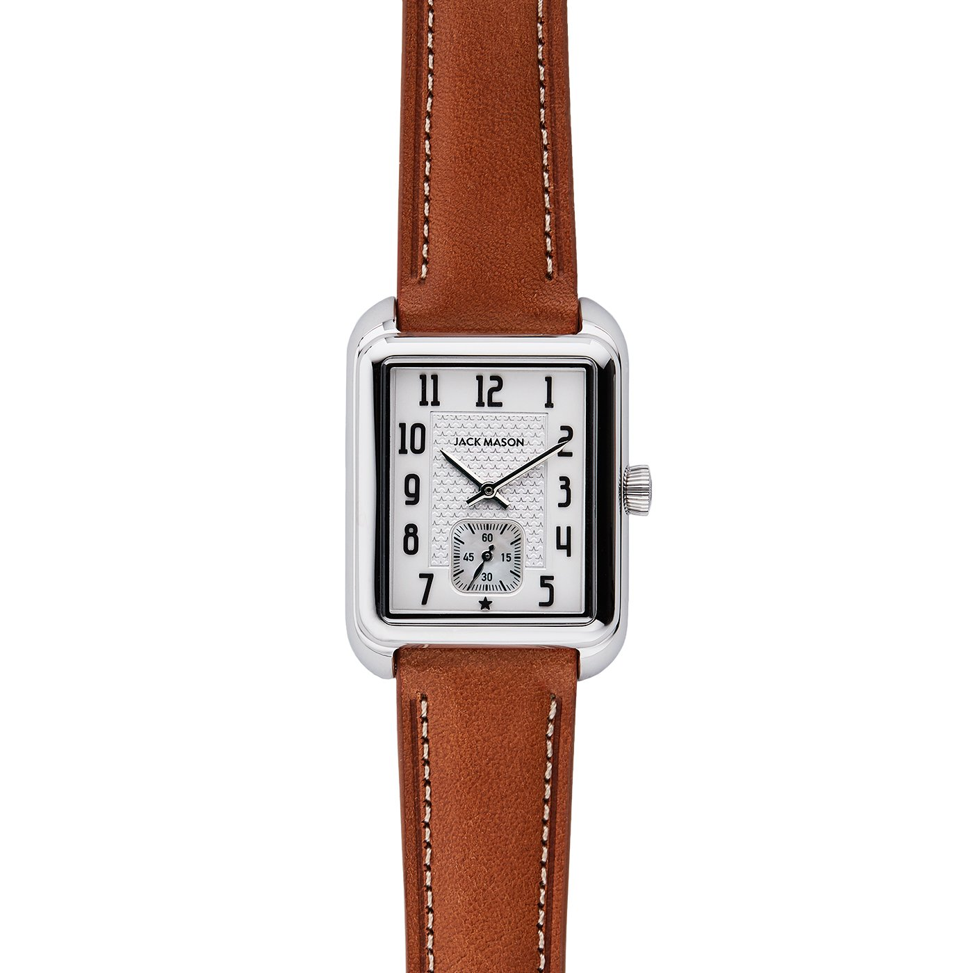 Jack Mason Issue No 2 Stainless Steel Sub Second White Dial Tan Leather Strap