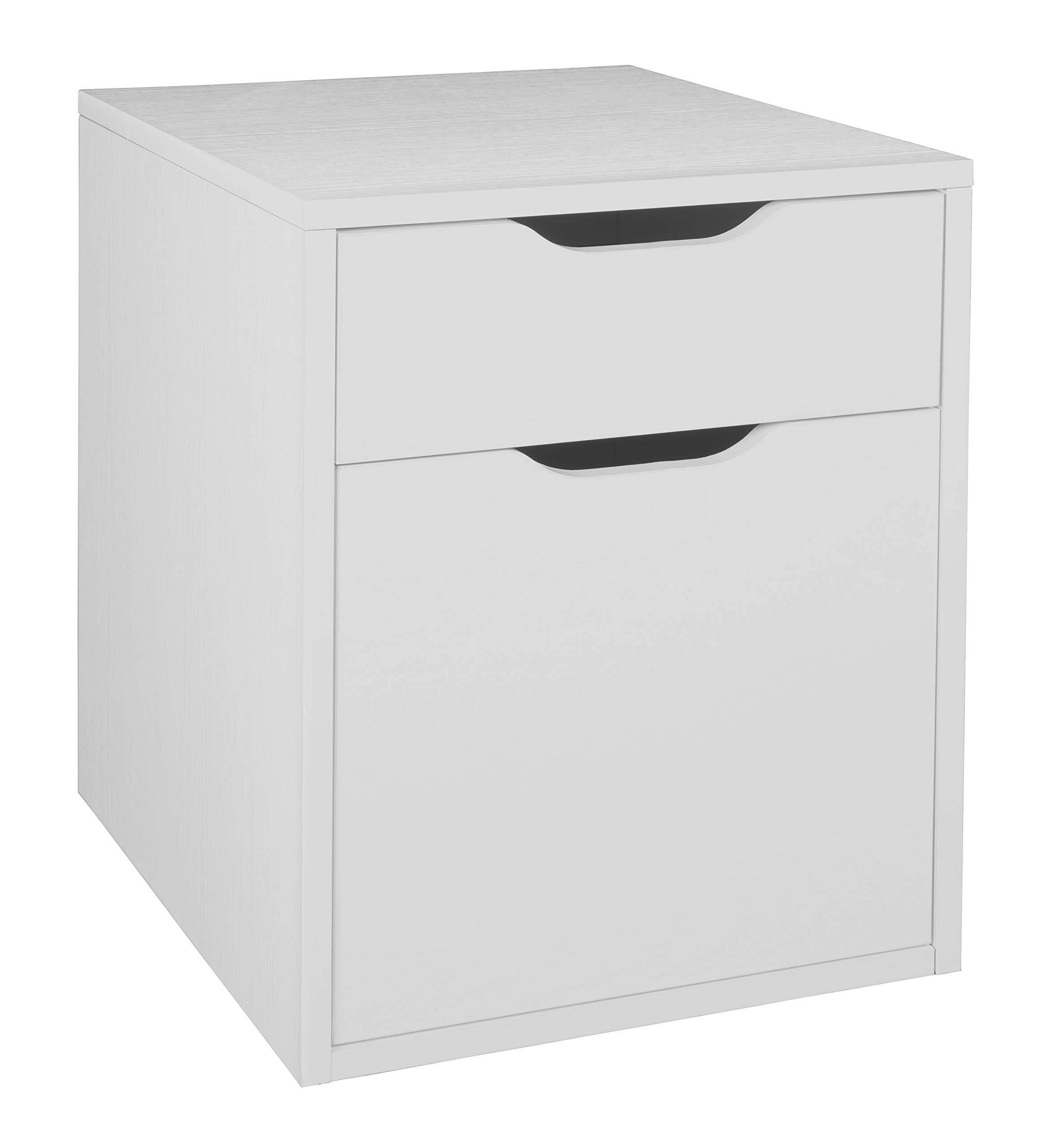 Niche NPBF19WH Mōd Freestanding Box-File Pedestal with No-Tools Assembly, 15'' W x 19'' D, White Wood Grain