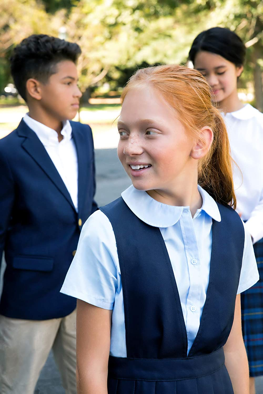 FRENCH TOAST GIRLS V-NECK PLEATED GREEN /& NAVY JUMPER SCHOOL UNIFORM SIZE 6X,NWT