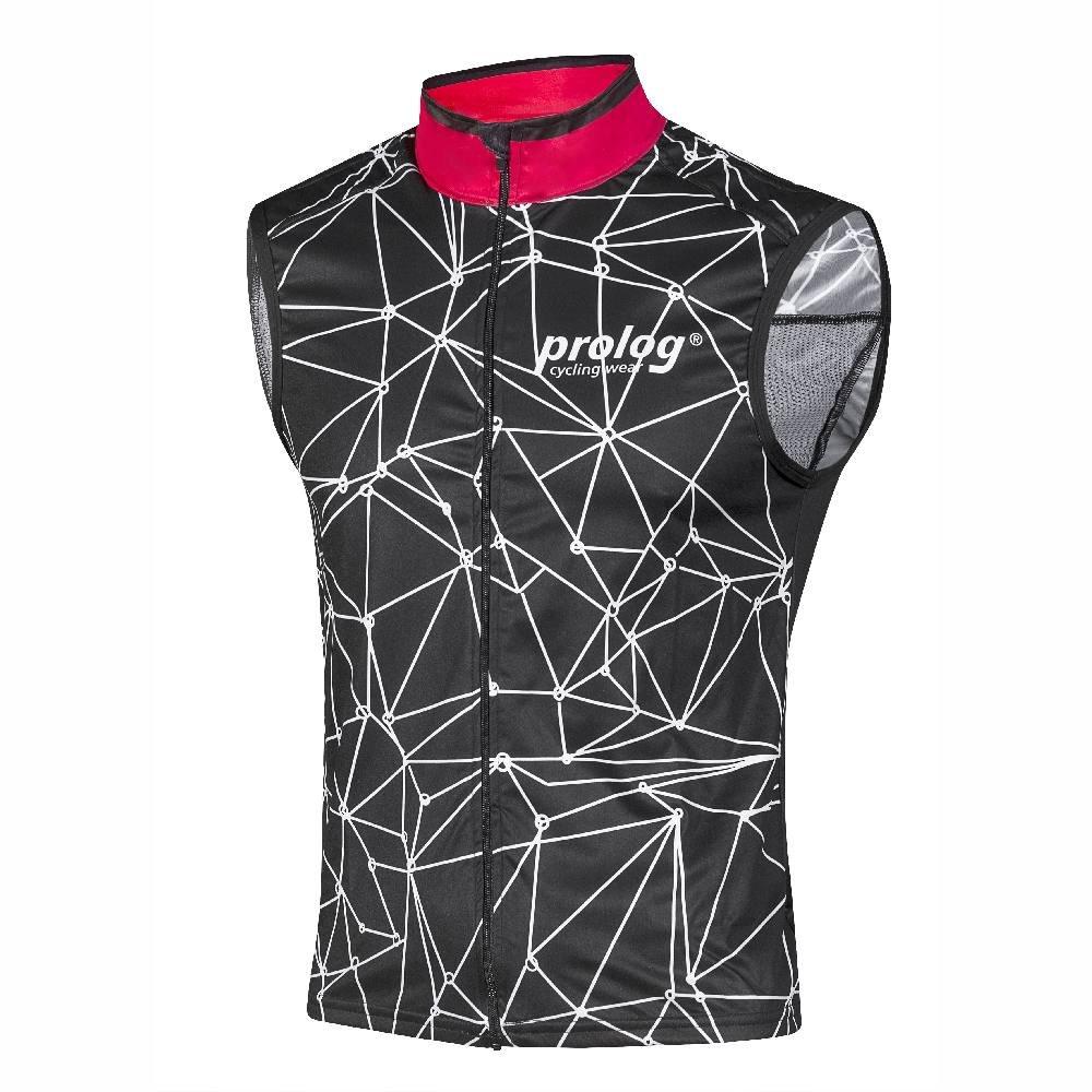 Prolog cycling wear Fahrrad Weste Herren, Radweste mit Softshell-Finish, elastisch, atmungsaktiv, wasserabweisend Größe XS, S, M, L, XL, XXL, XXXL, XXXXL schwarz