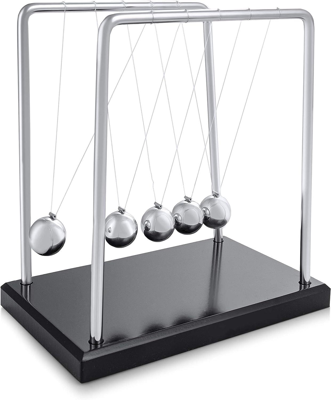 Kunststoff Metall Newton Wiege Kugel Pendel Deko Newtonpendel Kugelspiel ger Neu