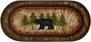 Wholesale rug source cozy cabin birch bear nonskid non slip cute lodge