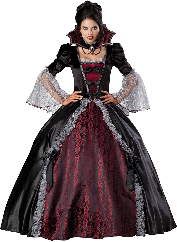 InCharacter Costumes Women's Vampiress Of Versailles Costume, Black/Burgundy, Medium