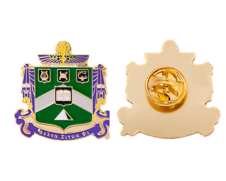 Delta Sigma Phi Fraternity Crest Lapel Pin Enamel Greek Formal Wear Blazer Jacket Delta Sig