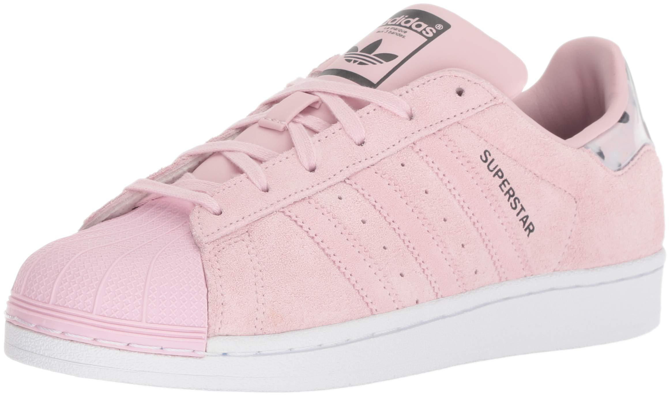 adidas Originals Unisex Superstar Running Shoe, Clear Pink/White, 6 M US Big Kid