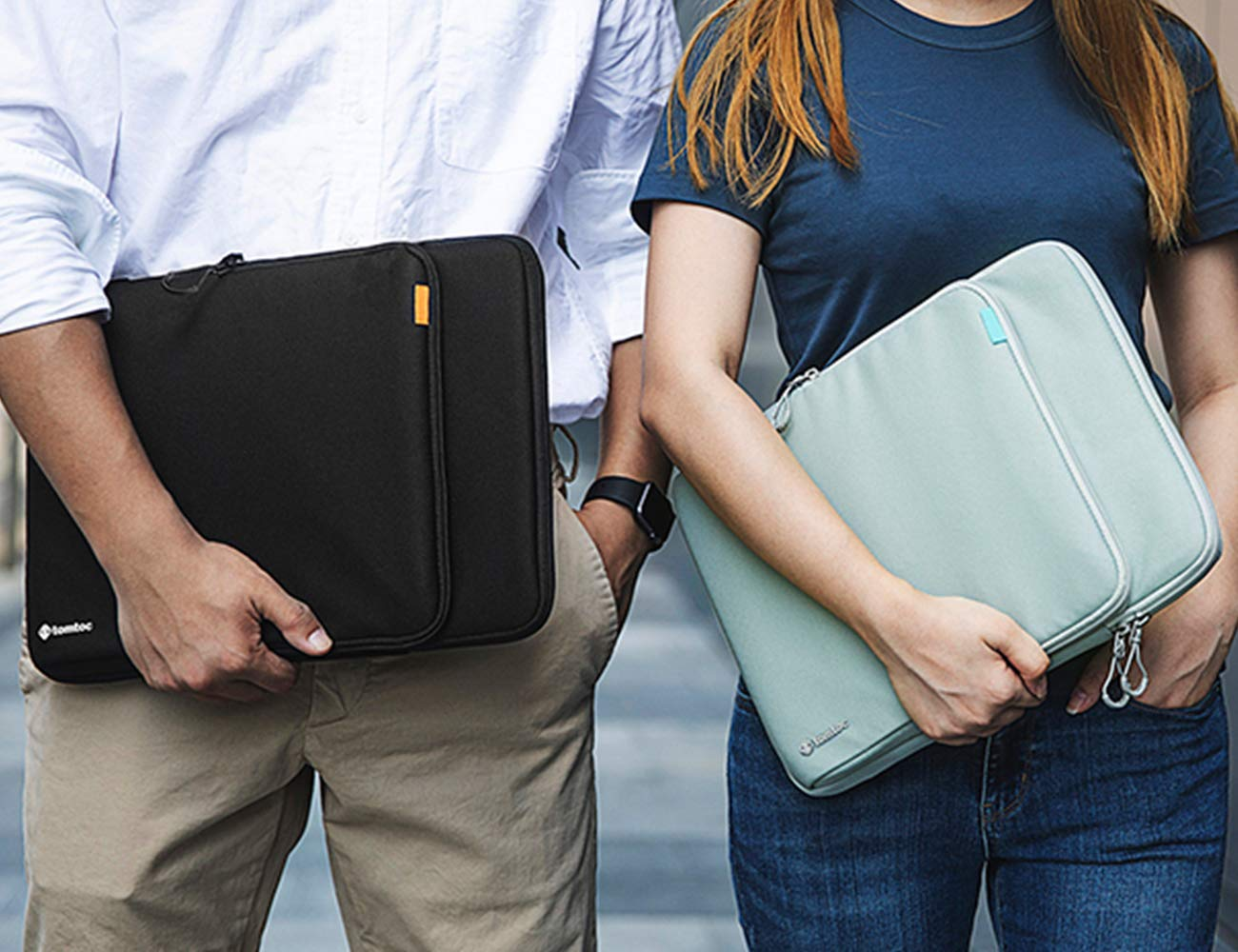tomtoc 360 Protection Laptop Sleeve Designed for 15 Inch New MacBook Pro with USB-C A1707 A1990, with Handle and Organized Pocket for MacBook Accessories, Cordura Fiber by tomtoc (Image #7)