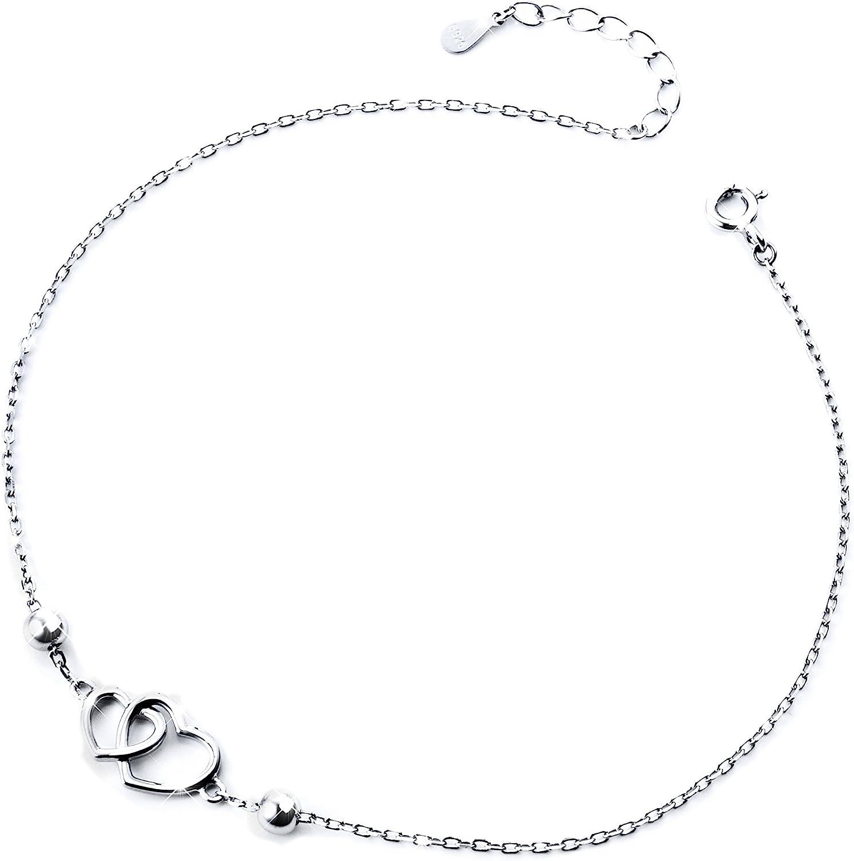 Anklet for Women S925 Sterling Silver Adjustable Foot Ankle bracelet