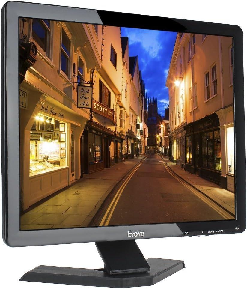 Eyoyo 17 Pulgadas 1280x1024 TFT LCD CCTV HDMI HD Pantalla de Color del Monitor con Entradas BNC/VGA/AV/HDMI/Salida del Auricular del USB,Altavoz Incorporado (17 Inch 1280x1024): Amazon.es: Electrónica