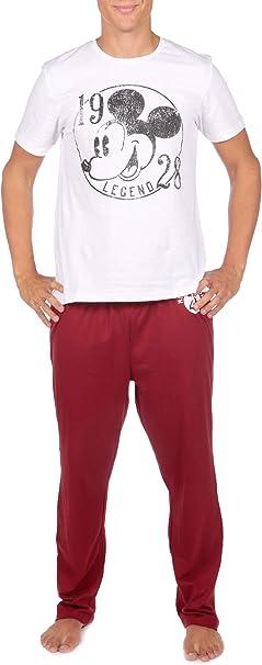 Disney Pijama para Hombre de Mickey Mouse: Amazon.es: Ropa y accesorios