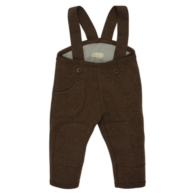 Baby Dungarees / Trousers in Organic Boiled Merino Wool Chocolate 74/80 6-12m Disana 26544-082-00939-21