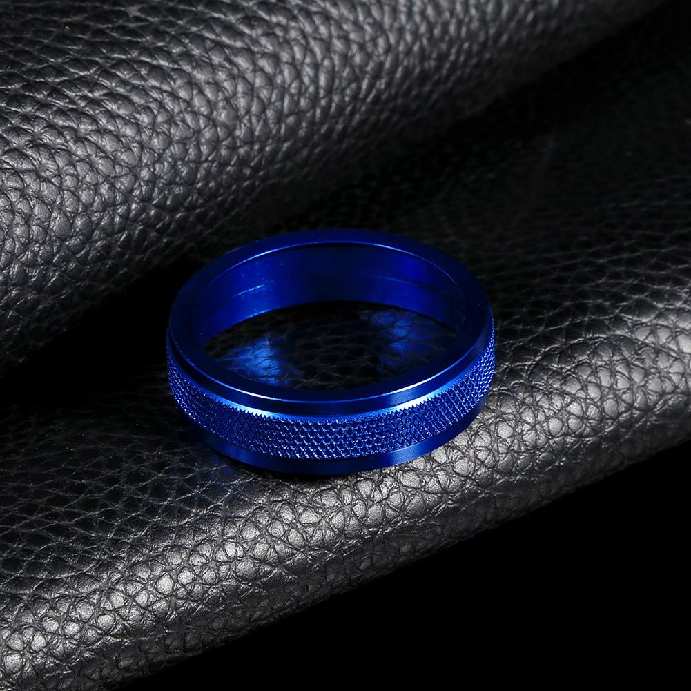 Akozon Interruptor de control de calor del aire acondicionado del coche Anillo de cubierta de la perilla de CA para V60 XC60 S80 V40 Aleaci/ón Azul Perilla de aire acondicionado