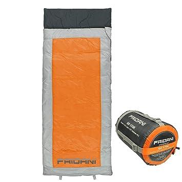 Fridani qo 170 K Camping Saco de Dormir hasta + 6 °C XL – Saco