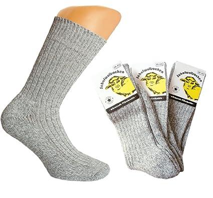 3 pares Calcetines de lana con relleno Suela de felpa, invierno calcetines, Gris gris