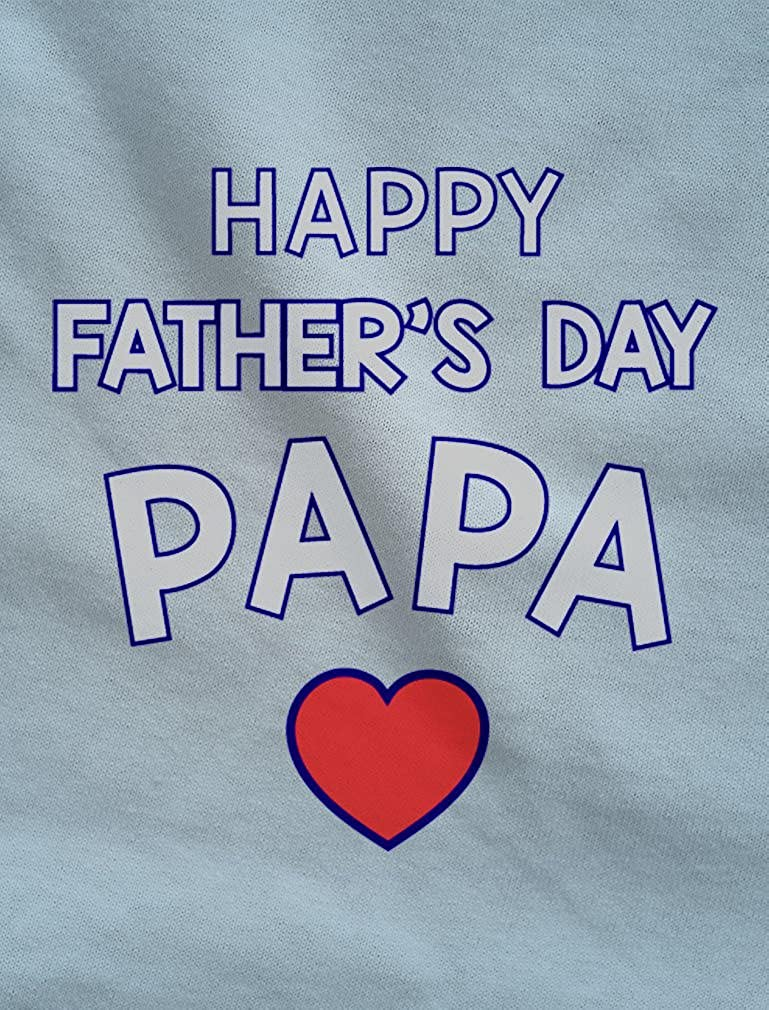 Happy Fathers Day Papa Gift for Grandpa Cute Newborn Baby Long Sleeve Gown Newborn Light Blue