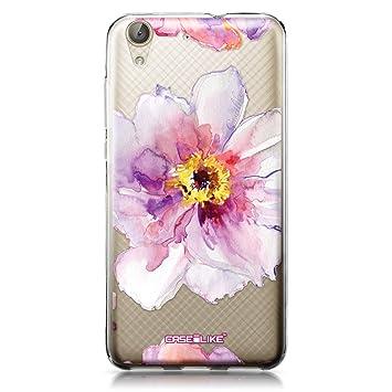 CASEiLIKE Funda Huawei Y6 II, Carcasa Huawei Y6 II/Honor Holly 3, Acuarela floral 2231, TPU Gel silicone protectora cover