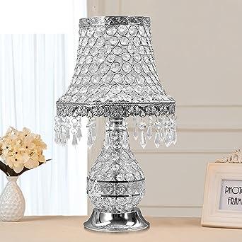 Kristall Tischleuchte Luxus Schlafzimmer Nachttischlampe Warme Wohnzimmer  Dekoration Lampe D