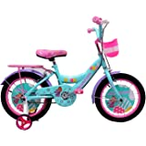 HelloBikes High End 16 inch Kids Girl Pink Bicycle for 4-8 Years with Frame 10 inch (+7 inch Extension) - European Brand