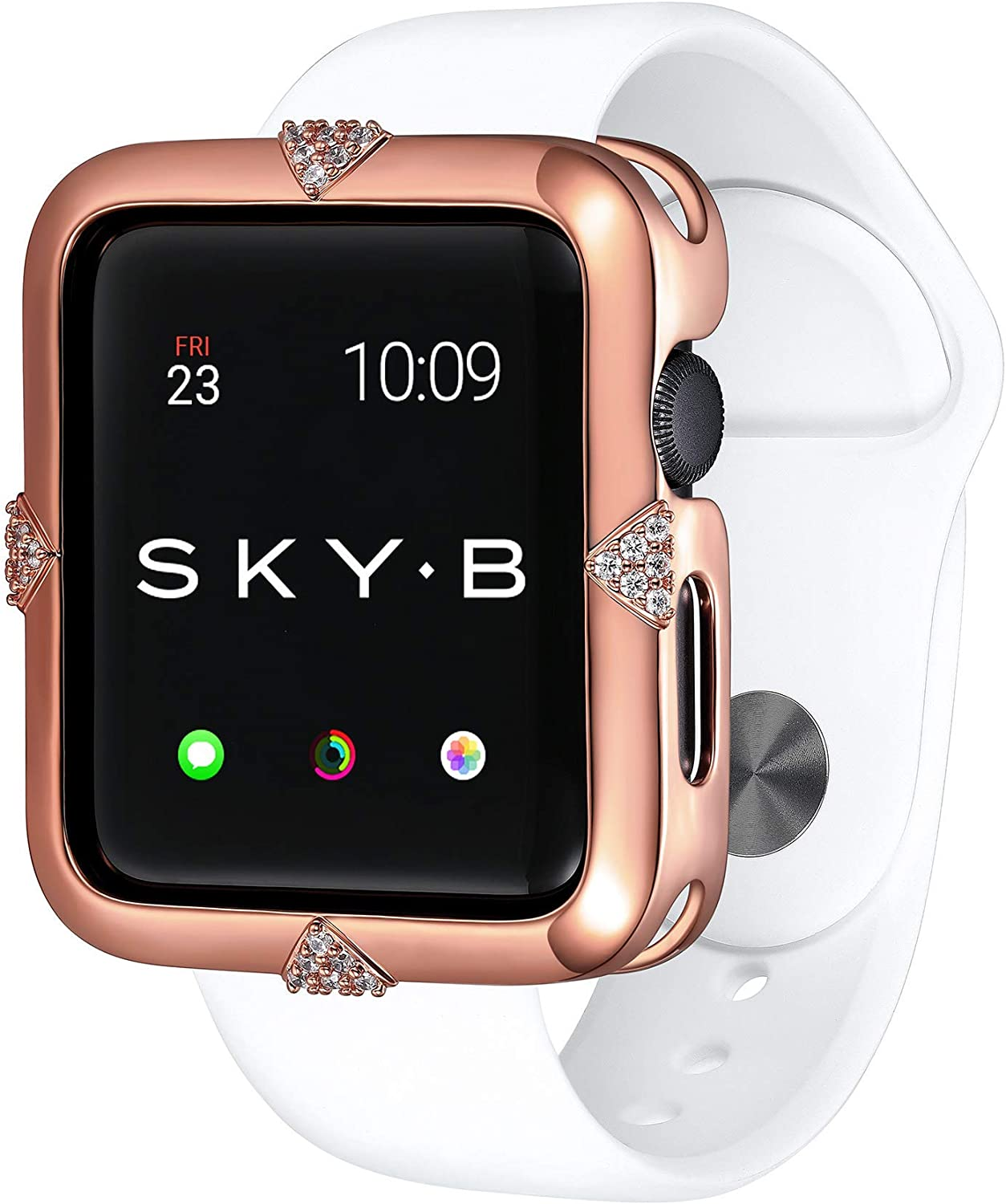 SKYB Pave Points Rose Gold Protective Jewelry Case for Apple Watch Series 1, 2, 3, 4, 5 Devices - 42mm