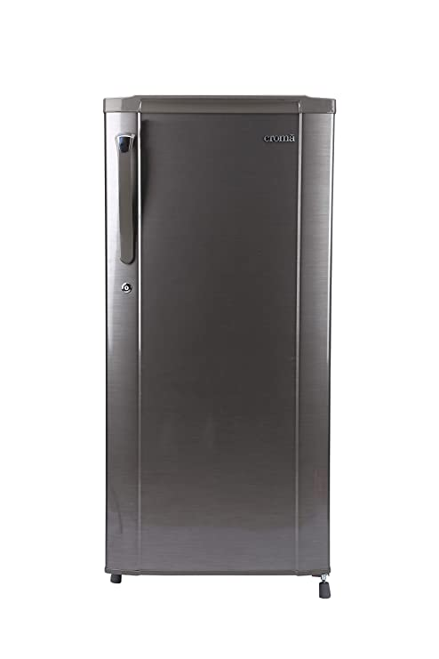 Croma 190 L 3 Star Direct Cool Single Door Refrigerator (CRAR0216, Brushline Silver) Refrigerators at amazon