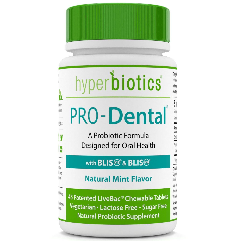 PRO-Dental: Probiotics for Oral & Dental Health - Targets Bad Breath at its Source - Top Oral Probiotic Strains Including S. salivarius BLIS K12 & BLIS M18 - Sugar Free (Chewable) - 45 Day Supply