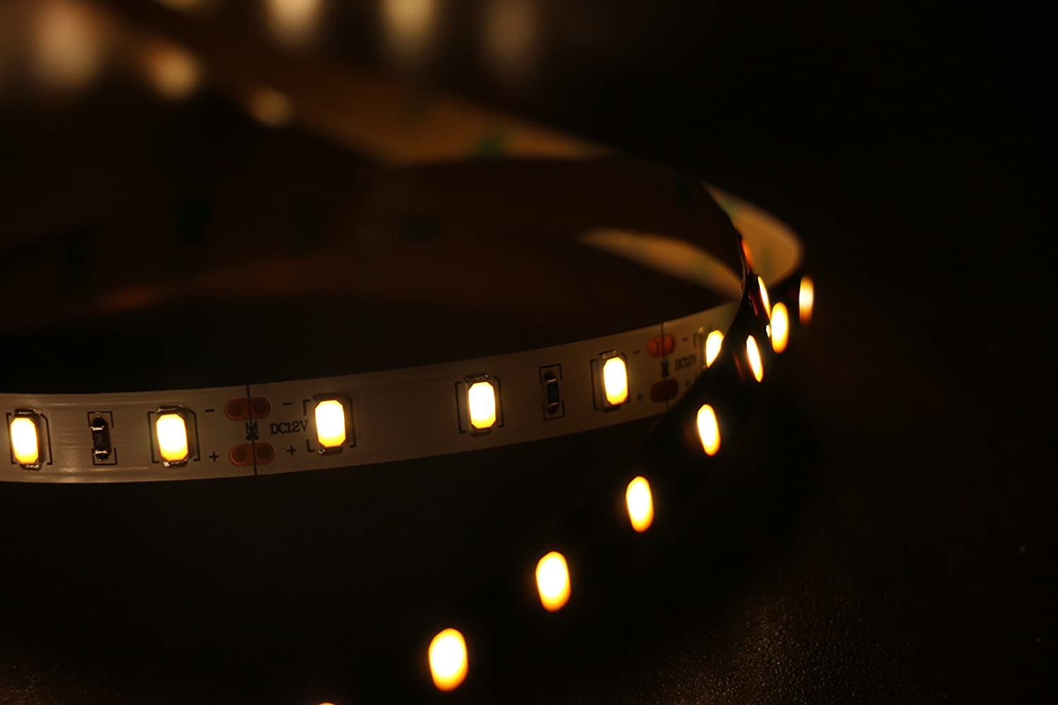 Marswell Cri 90 Led Strip Lights Warm White Smd5630 Non 3v 3w Amber Power 55lm Rapid Online Waterproof Home Kitchen