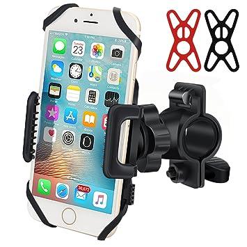 Soporte de teléfono para bicicleta, soporte universal para manillar de bicicleta, rotación de 360 ° ajustable ...