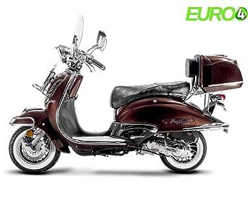 Retro Roller Easy Cruiser Chrom 50 Ccm Mokkabraun Motorroller