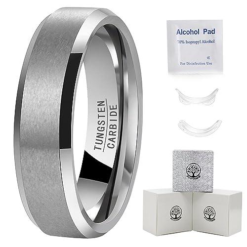 Para hombre anillos de tungsteno bandas de boda para hombre carburo de tungsteno anillos para hombre
