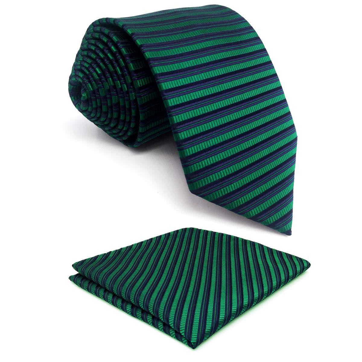 shlax&wing Corbata Para Hombre verde Extra Largo Corbatas 160cm ...