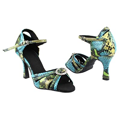 Gold Pigeon Shoes Party Party Wedding Shoes Comfort Evening Dress Pumps Women High Heel Ballroom Dance Shoes with Sole Stopper 1154 Blue Green Snake Free Shipping