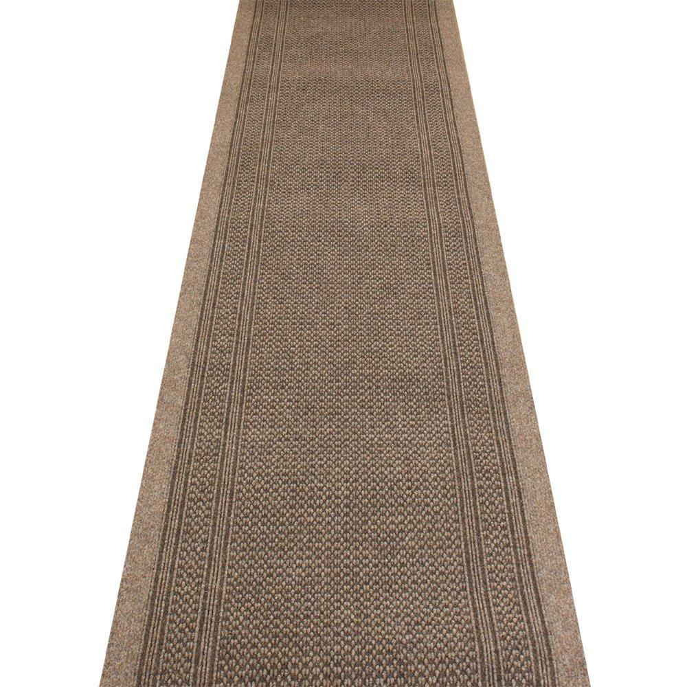 Aztec Light Brown - Long Hall & Stair Carpet Runner Carpet Runners UK