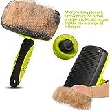 Pecute Cepillo Universal Para Quitar y Remover el Pelo Muerto de Perros y Gatos Carda Con Púas Flexible de Acero Inoxidable Para Desenredar y Peinar a Mascotas Pecute PET Slicker Brush