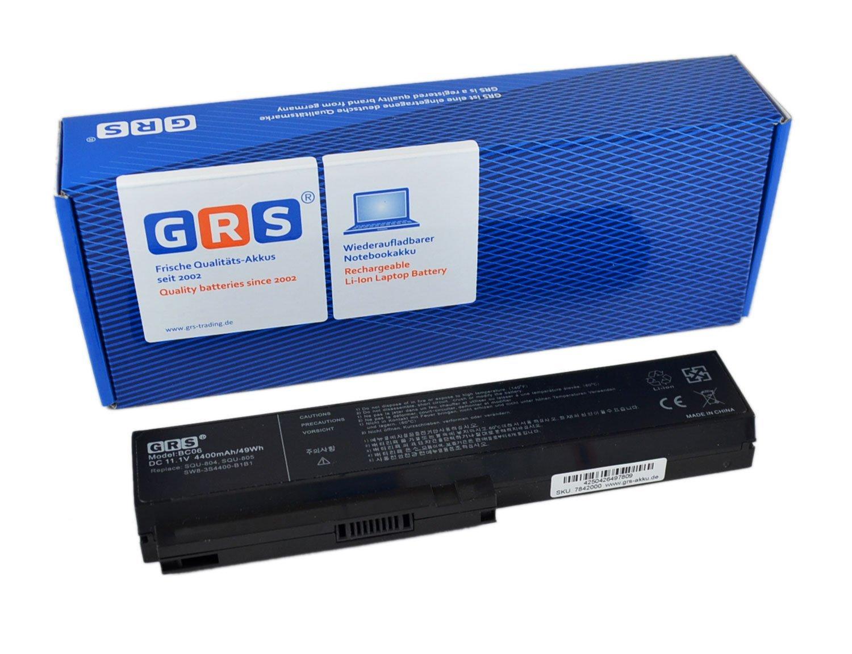 GRS - Batería para portátil LG R510, R560, R410, R490, R570, Fujitsu SW8, DW8, EAA de 89, TW8, E310 de m, E310 S, HP 430, 650, sustituye a: SQU-518 805, ...