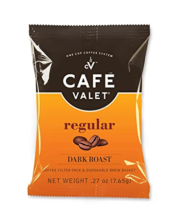 Cafe Valet Coffee for Cafe Valet Single Serve Brewers, Regular, 50 Count