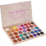 Paleta de maquillaje de sombra de ojos de 39 colores Paleta altamente pigmentada Cálido neutro Smokey Eye Makeup Powder…