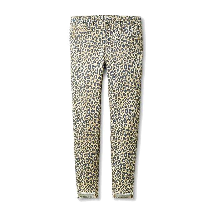 8c2415f06749 Amazon.com: Art class Girls' Animal Print Denim Skinny Jeans Khaki ...