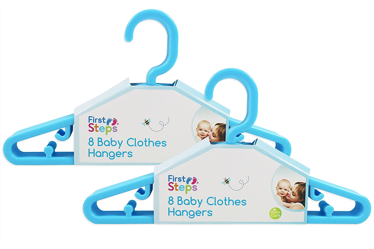 Baby Coat Hangers Small Clothes Hangers First Steps Pack of 16 Blue ...