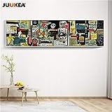 海外限定 ジャン=ミシェル・バスキア Jean-Michel Basquiat 大型サイズあり キャンバス ポスター 美術品 絵画 (80x320cm)