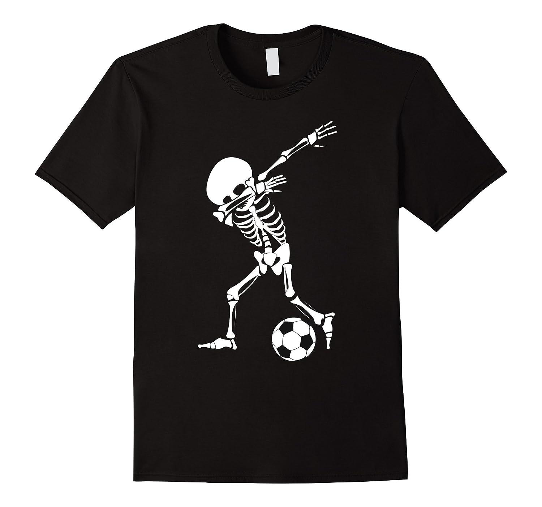Dabbing Skeleton Soccer Shirt - Funny Halloween Dab T-Shirt-T-Shirt