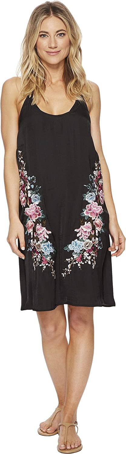 Lucky Brand Junior's Zen Garden Embroidered Slip Dress Cover Up